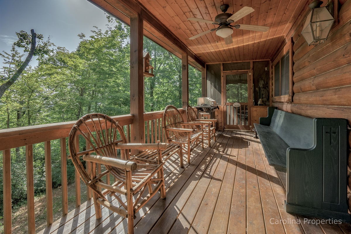 Full view of other side of back deck