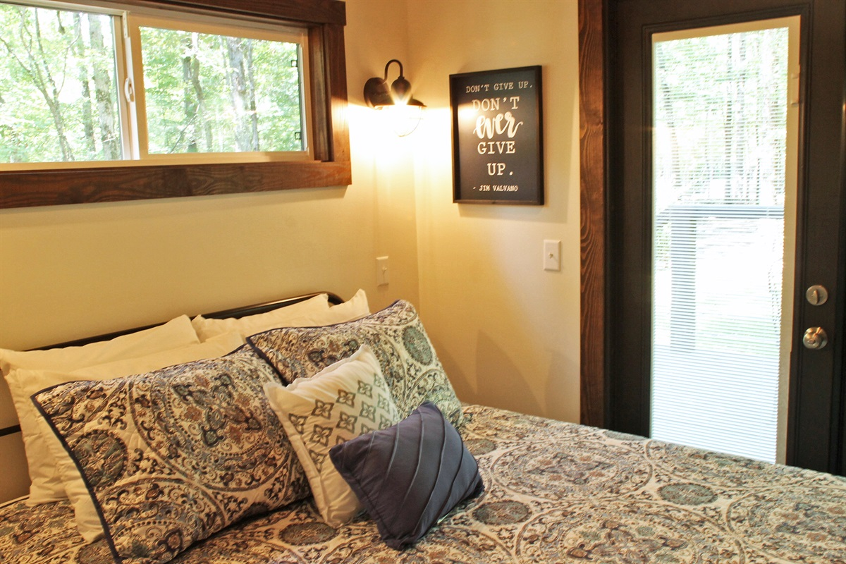 Master Bedroom With Access To Porch