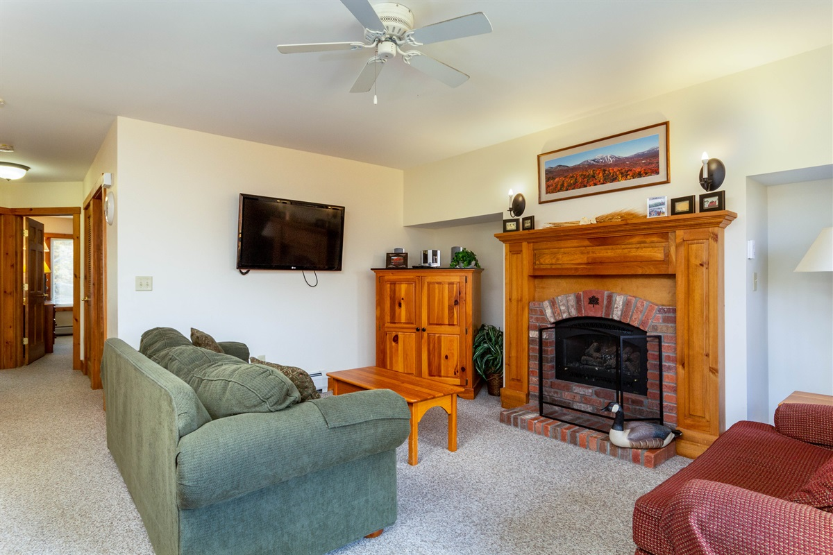 Flat screen HD TV, Cozy Fire, plenty of family games in the cabinet.