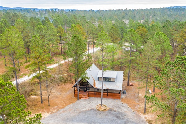 Drone view from property