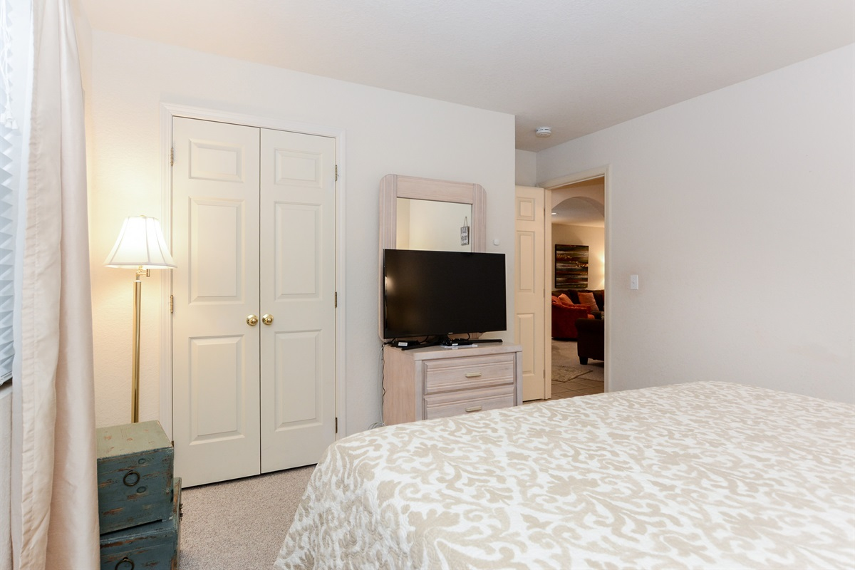 The second Bedroom has its own walk-in closet!
