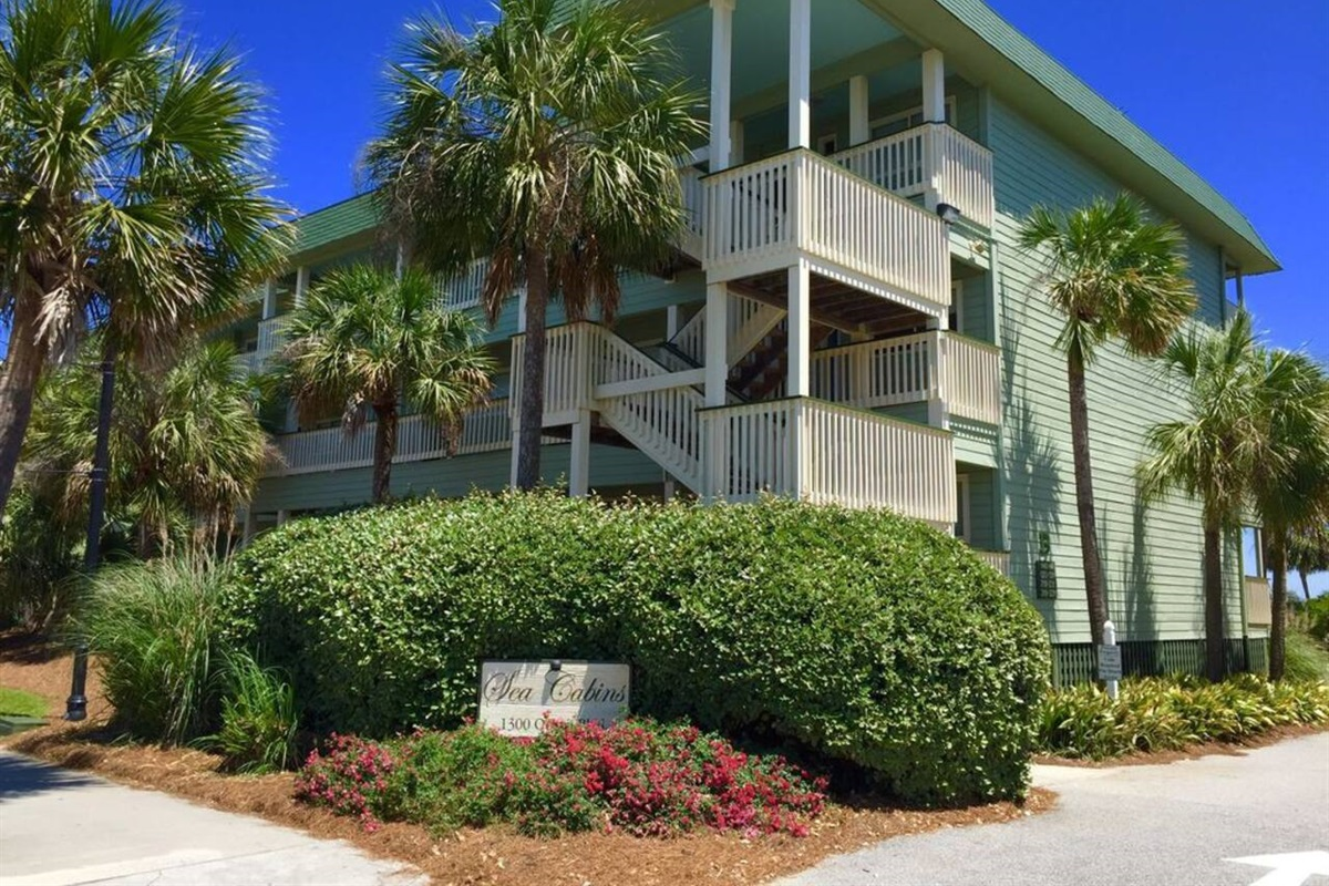 Sea Cabins are located at 1300 Ocean Blvd at Front Beach on the Isle of Palms and are Ocean Front.