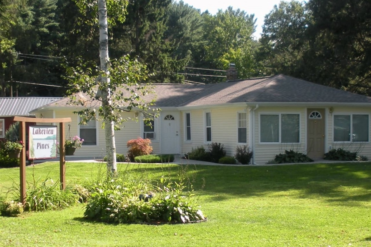 """Cooperstown Baseball Rentals - """"Goodyear Lakeview"""" is the unit on the right side of house (tan door)"""