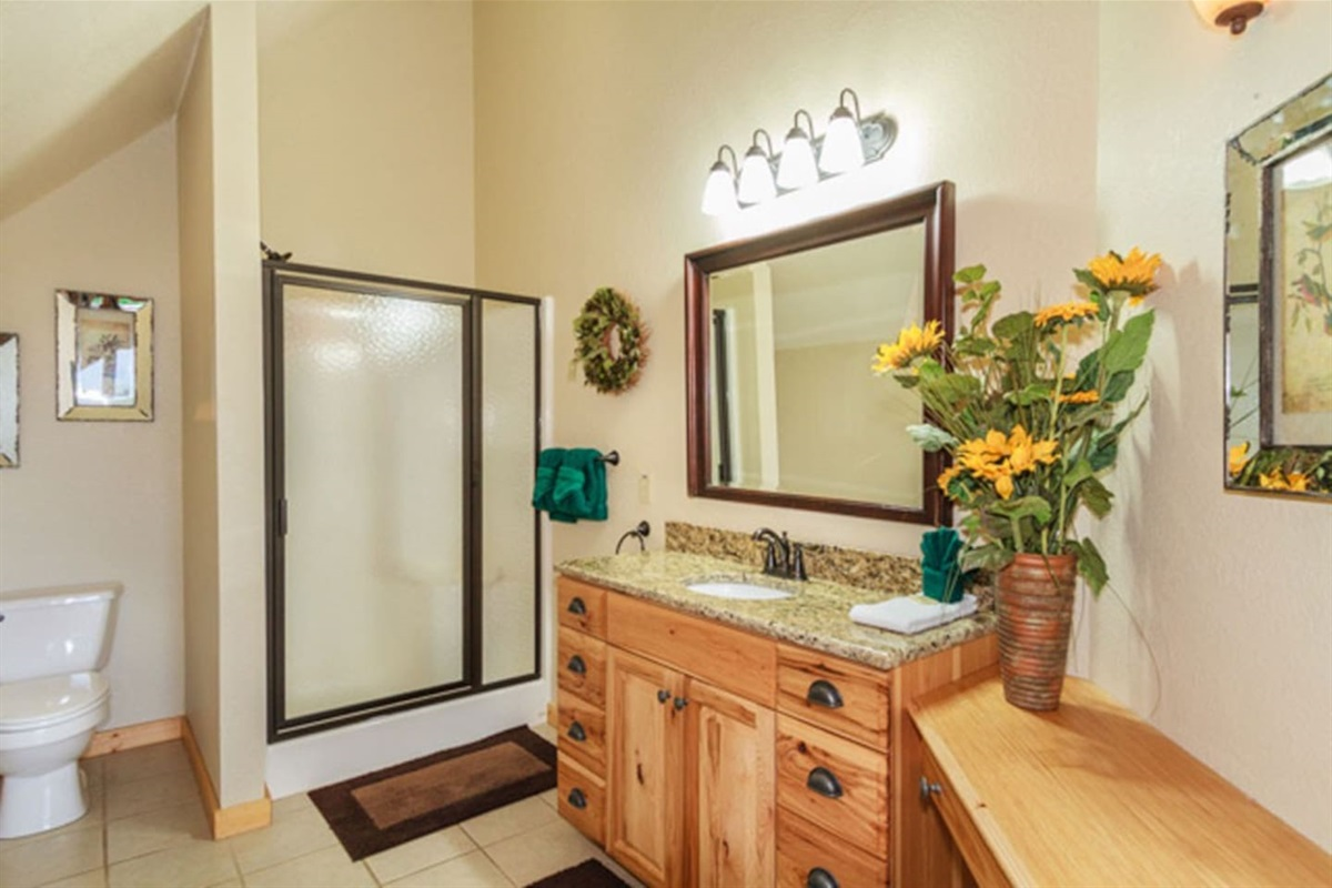Second upstairs bathroom with shower.