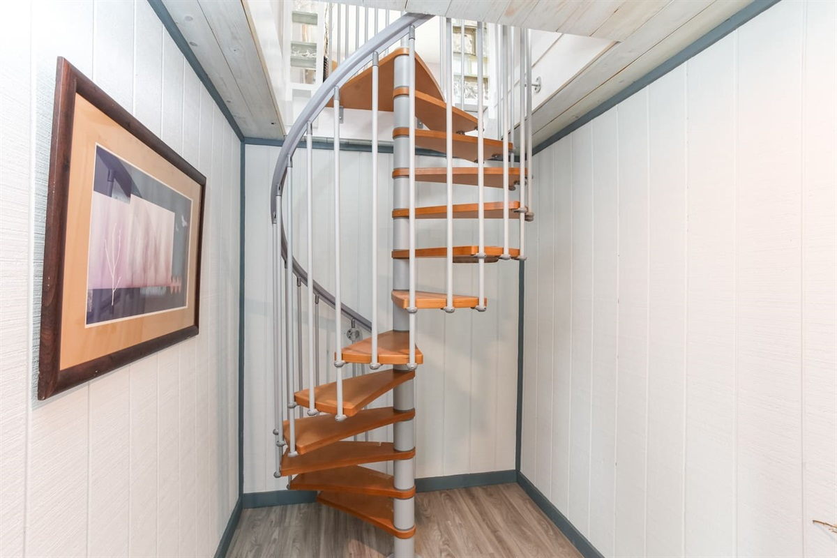 Spiral Stairs to Downstairs Area