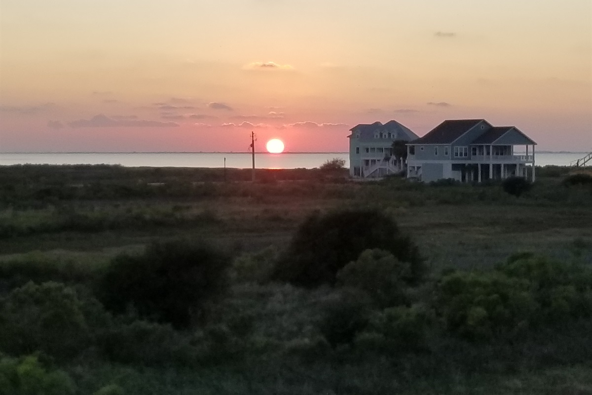 Sunset Views from Back Deck