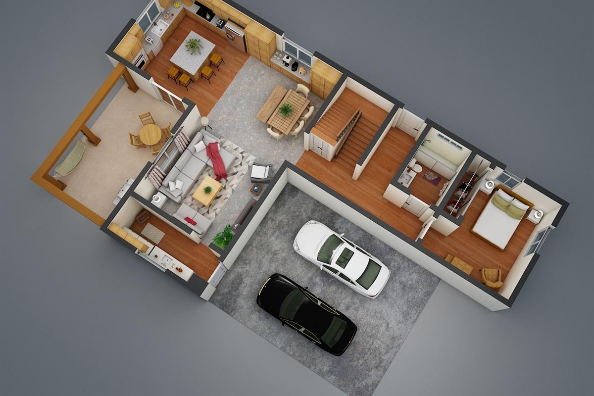 1st Floor 3D Model