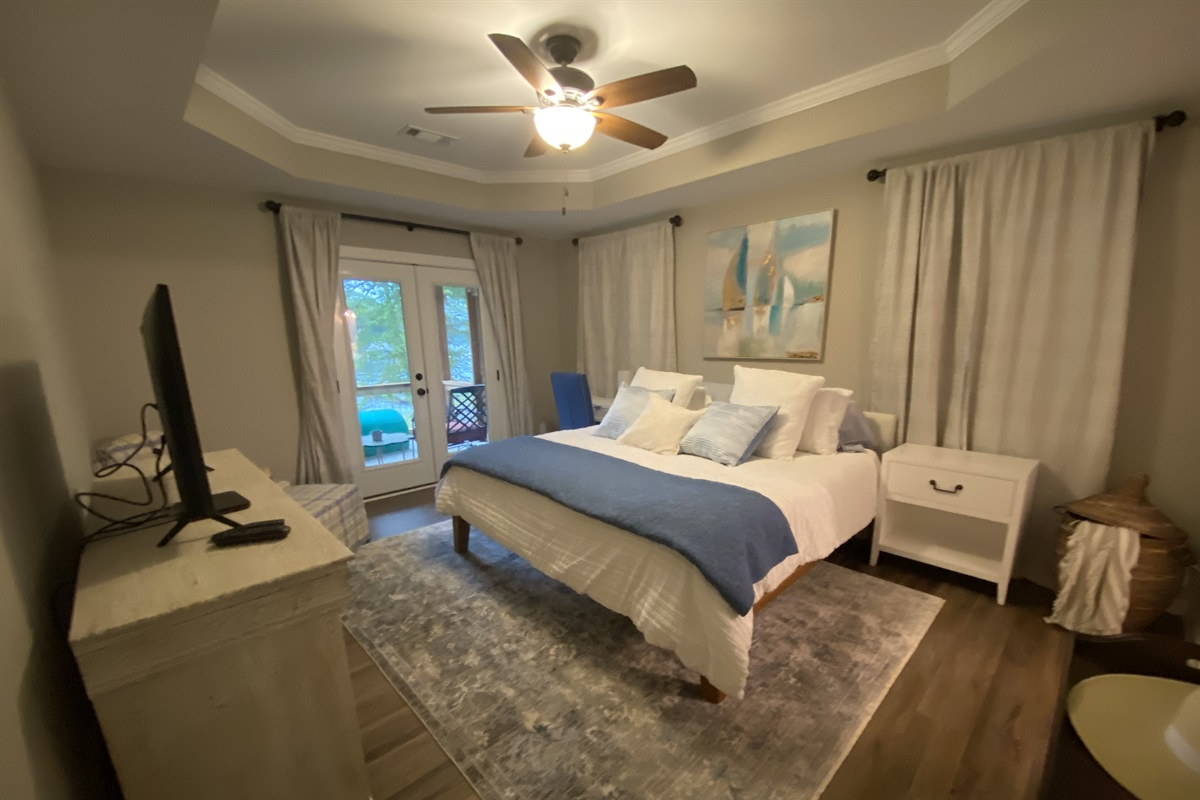 You'll love the views from the Master Bedroom with King bed and Smart TV.