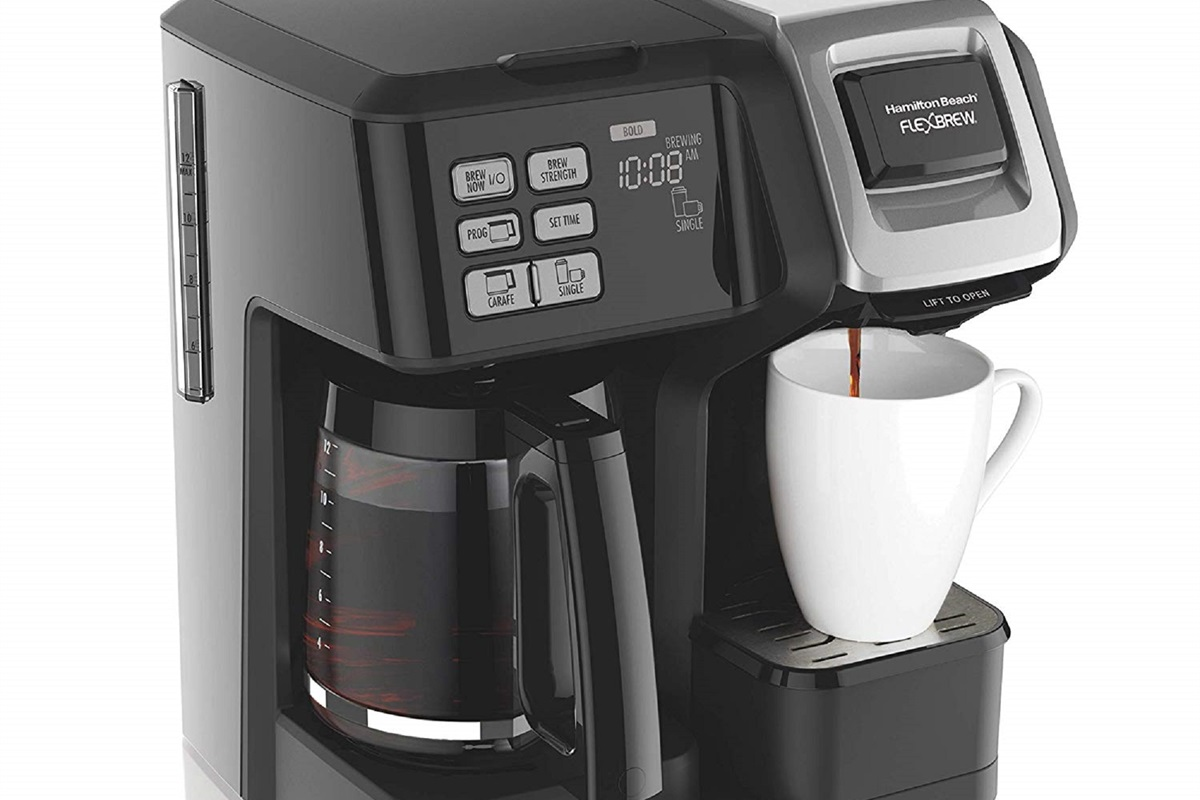 We provide a coffee machine that uses both traditional and Keurig type coffee.