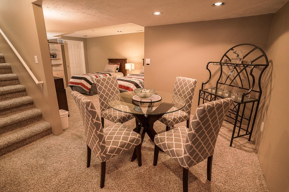 Basement Suite Dining Area