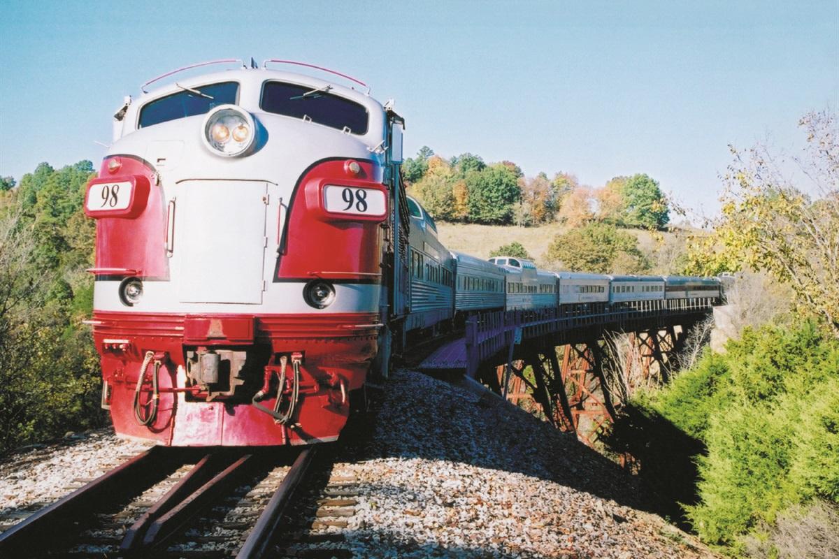 Ride a historic train through the Ozarks on the Branson Scenic Railway! (BCVB)