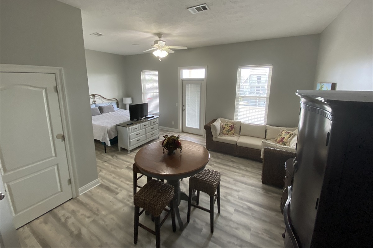 Master suite with kitchenette