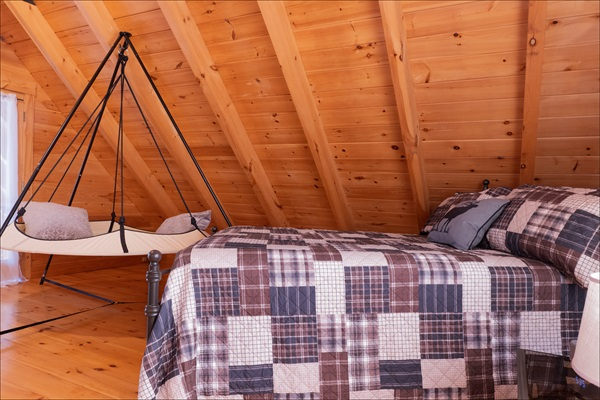 Second floor master bedroom with vaulted ceilings