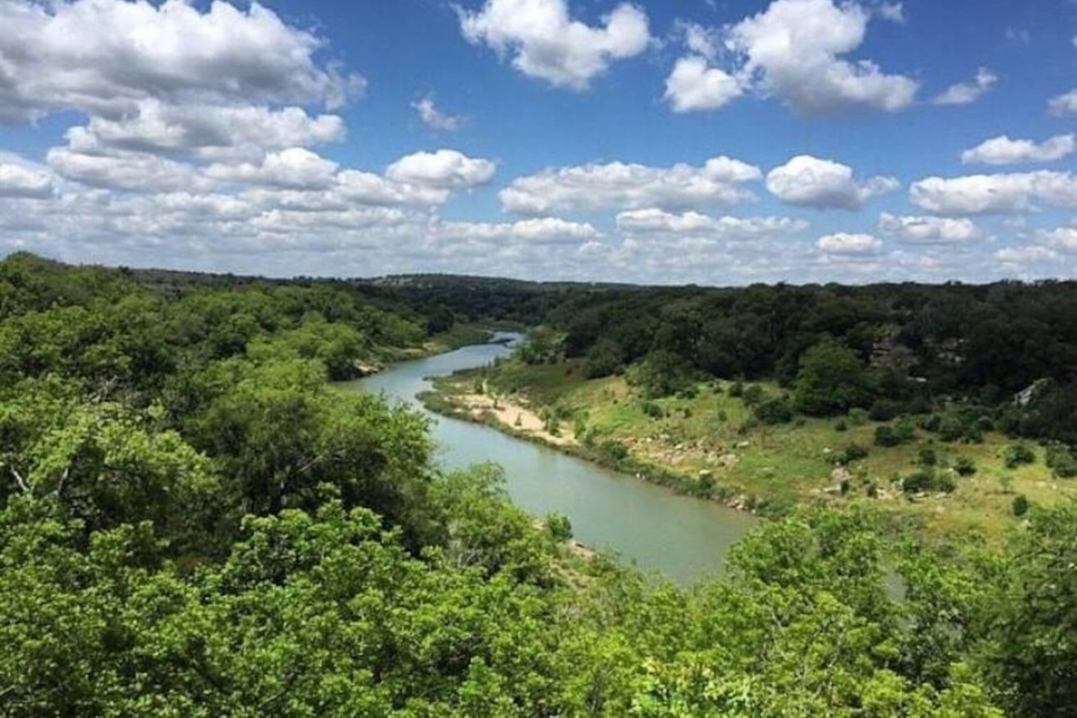 Reimers Ranch Park (swimming hole, mountain climbing, hiking, family fun)-just 12 miles away.