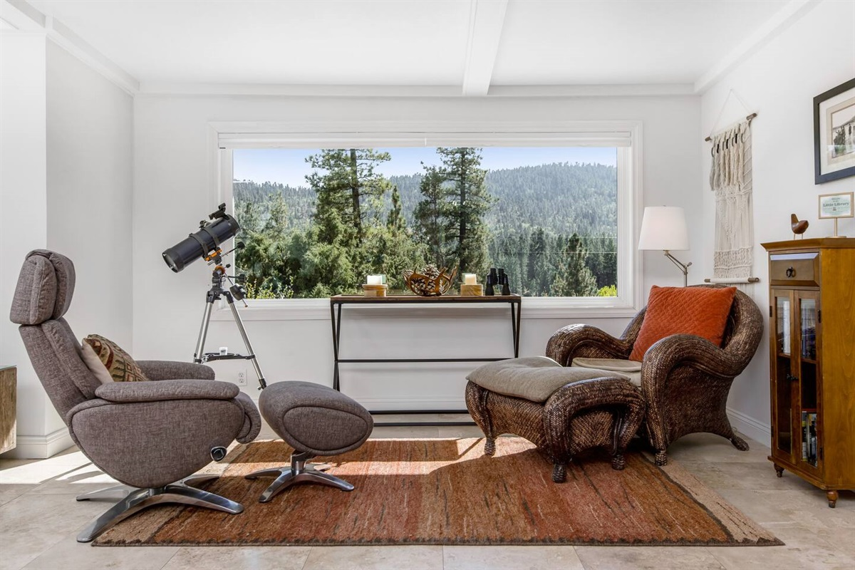 Lounge (Lower Level): The comfortable lounge area offers fantastic views of Big Bear!