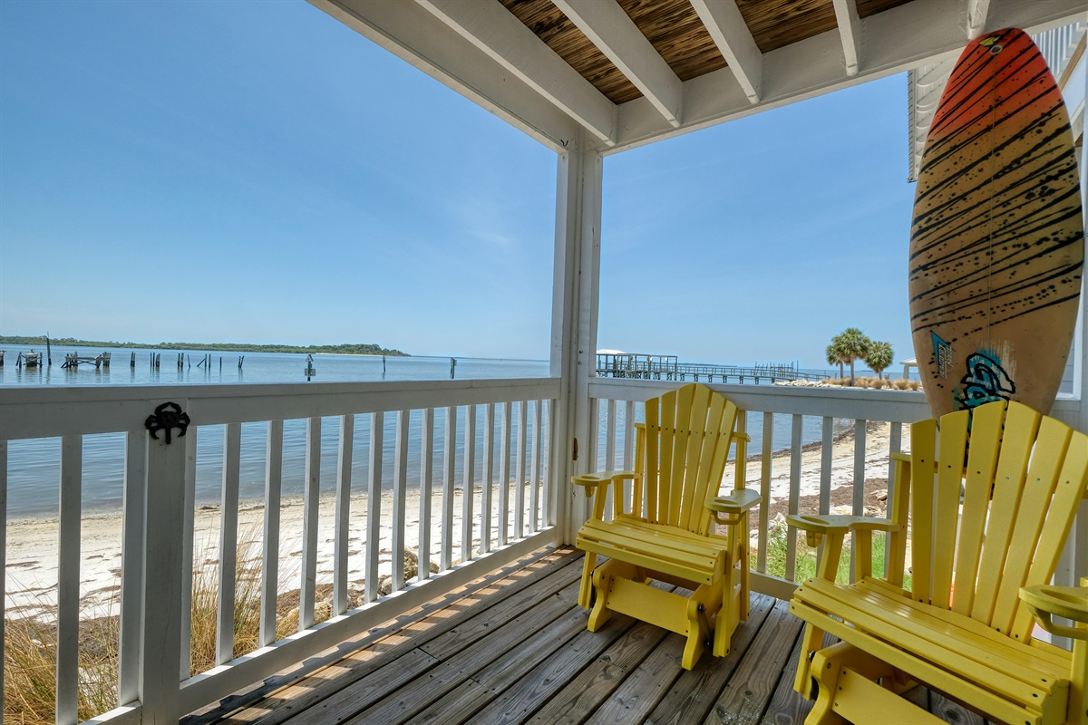 Sit back and relax and take in the views of the Gulf