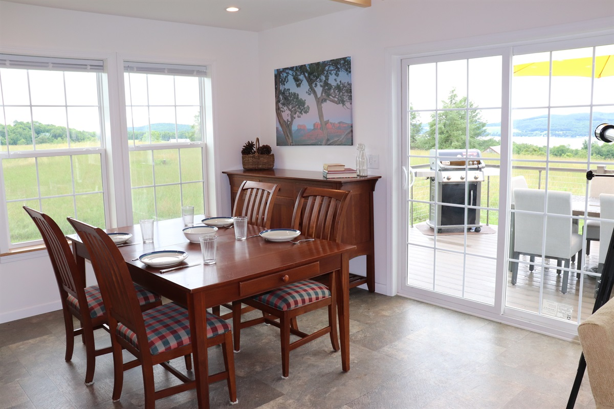 Dining area just steps away from the grill