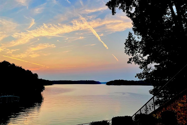 Take in fabulous lake sunsets from three levels of outdoor living spaces