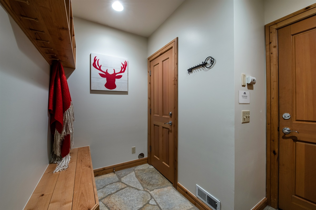 Mud room entrance way from garage.