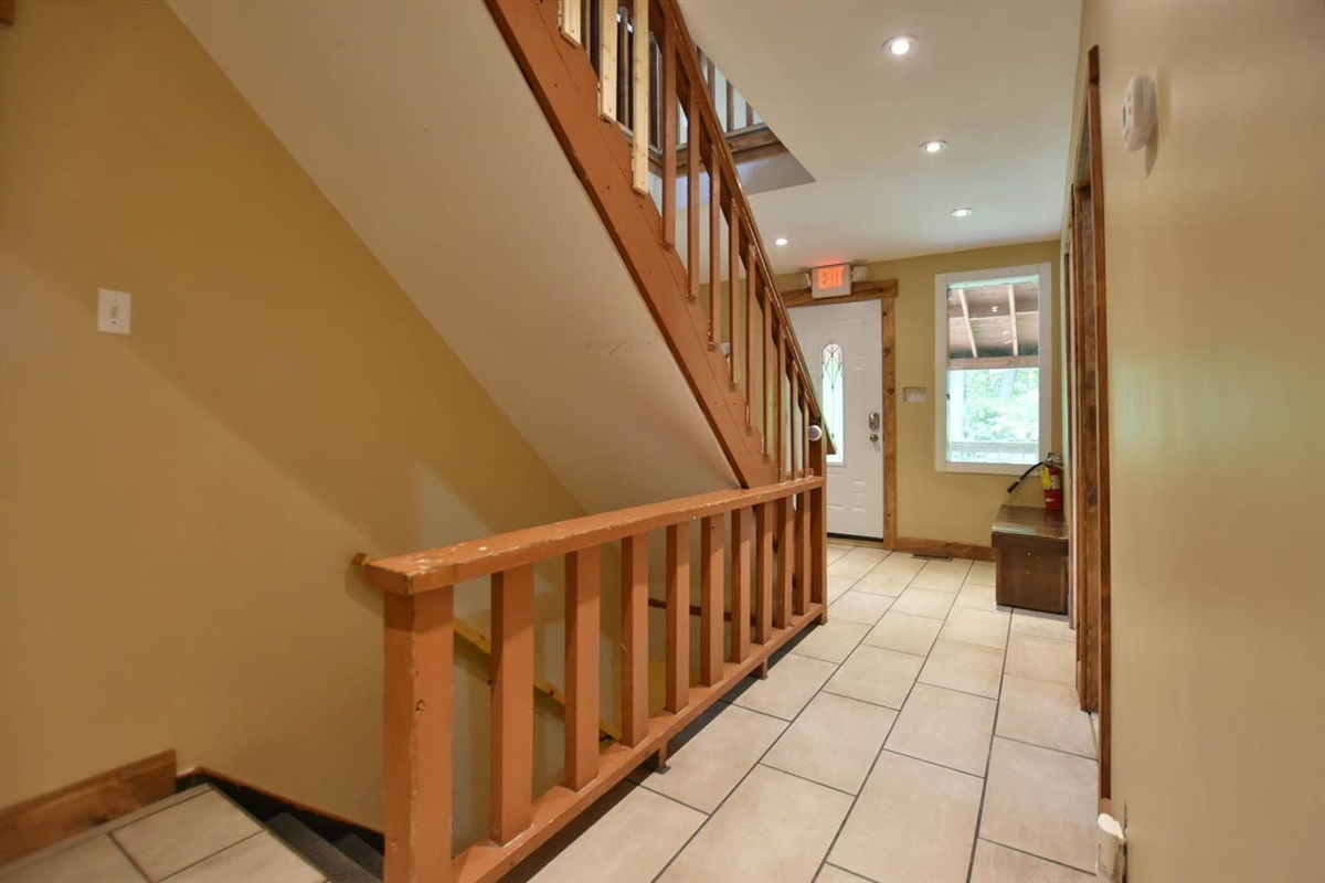 Main floor hallway and staircases