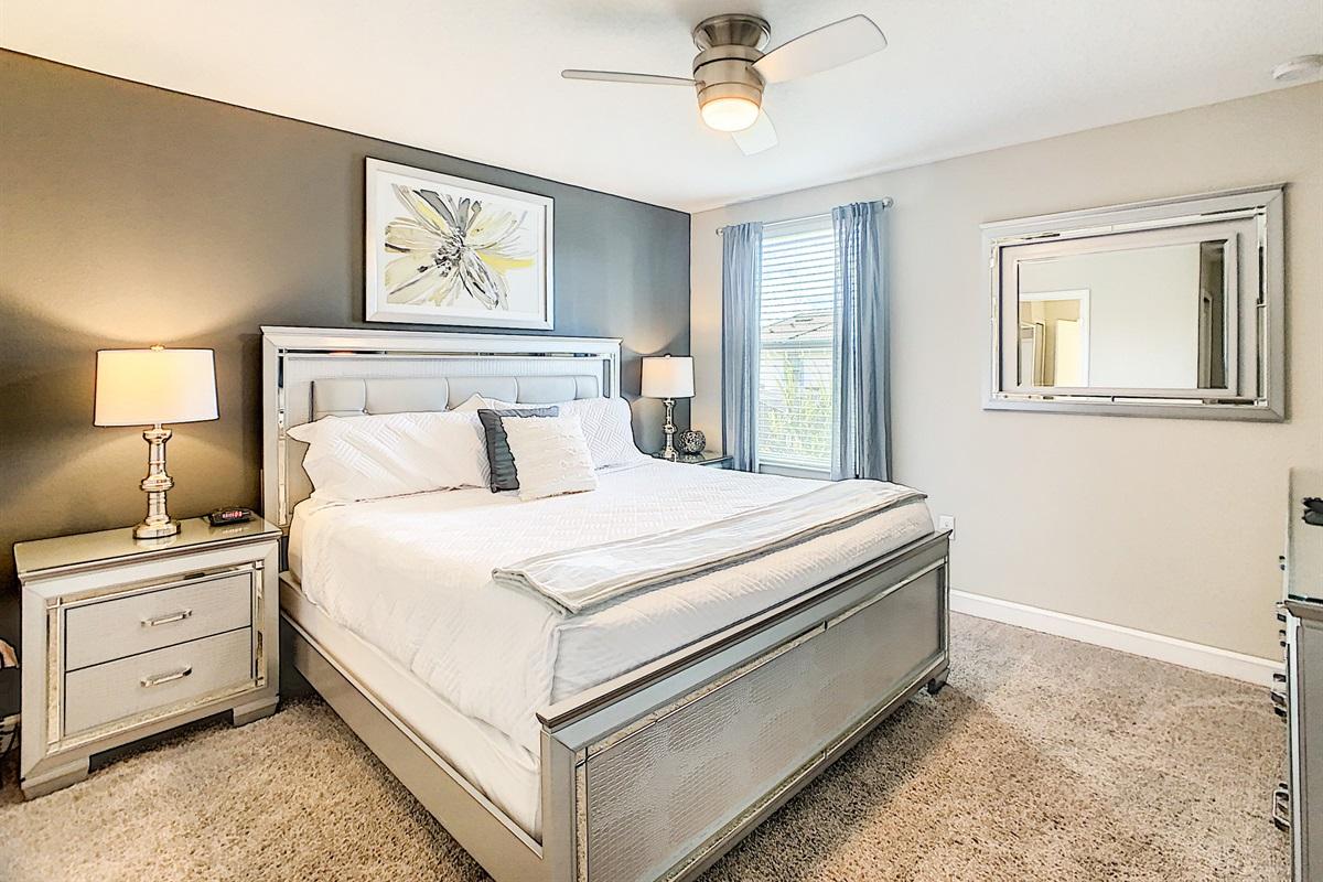 Bedroom #6-2nd Floor-King Bed