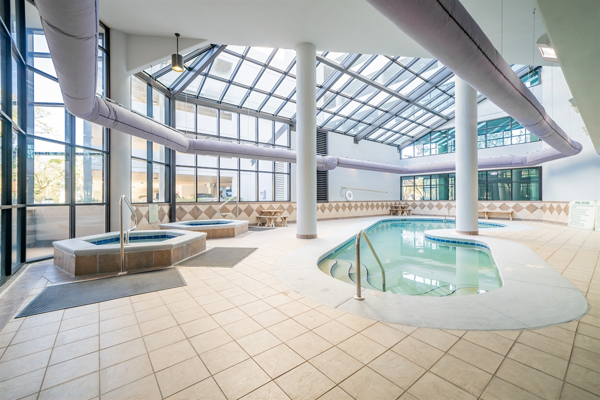 Indoor pool and hot tubs!