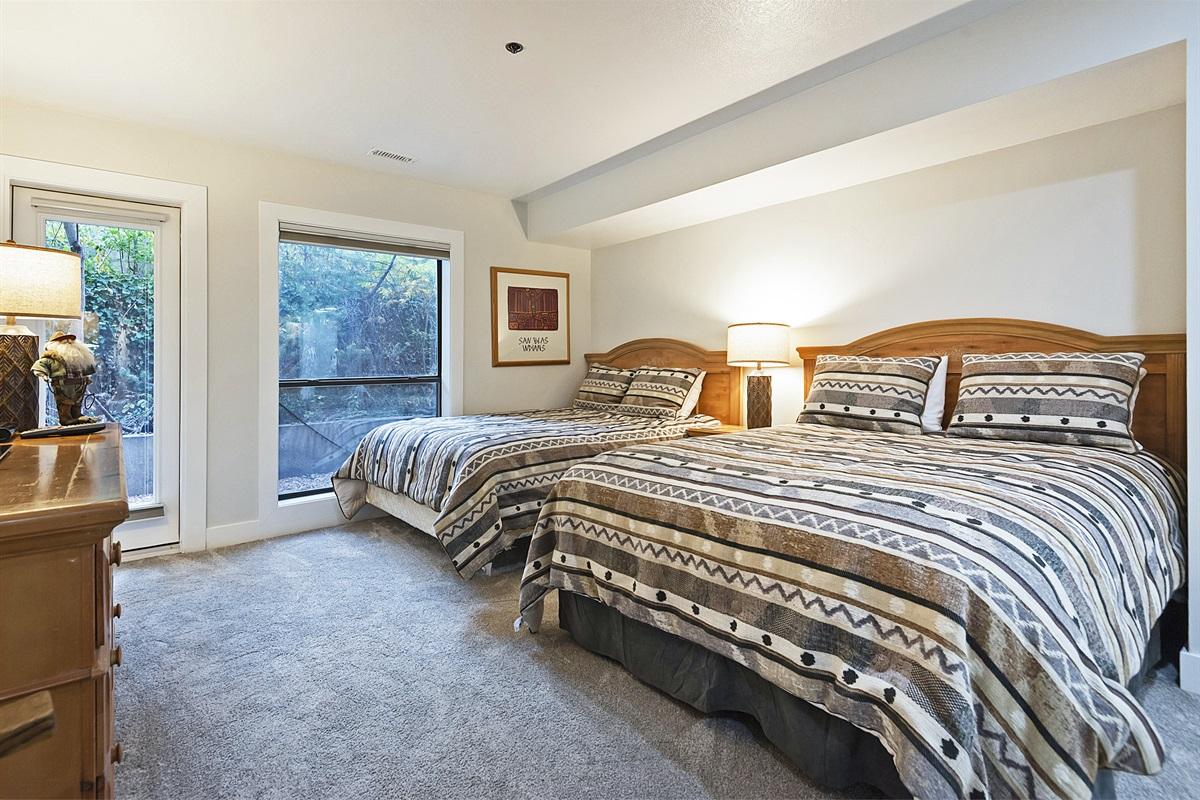 Bedroom Two - two queen beds, ensuite bath