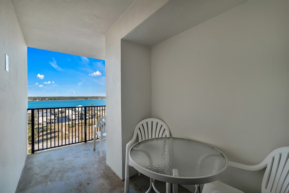Common Area Balcony on the Front Side of Complex with Bay View
