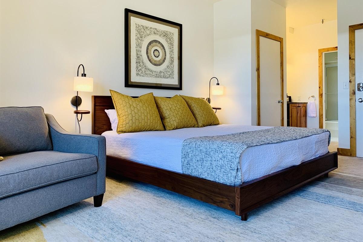 Spacious, stylish, hotel style room.