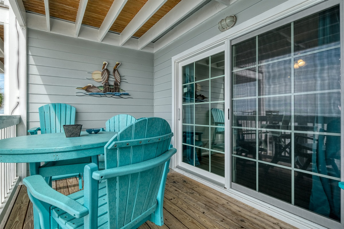 Private porch with great seating