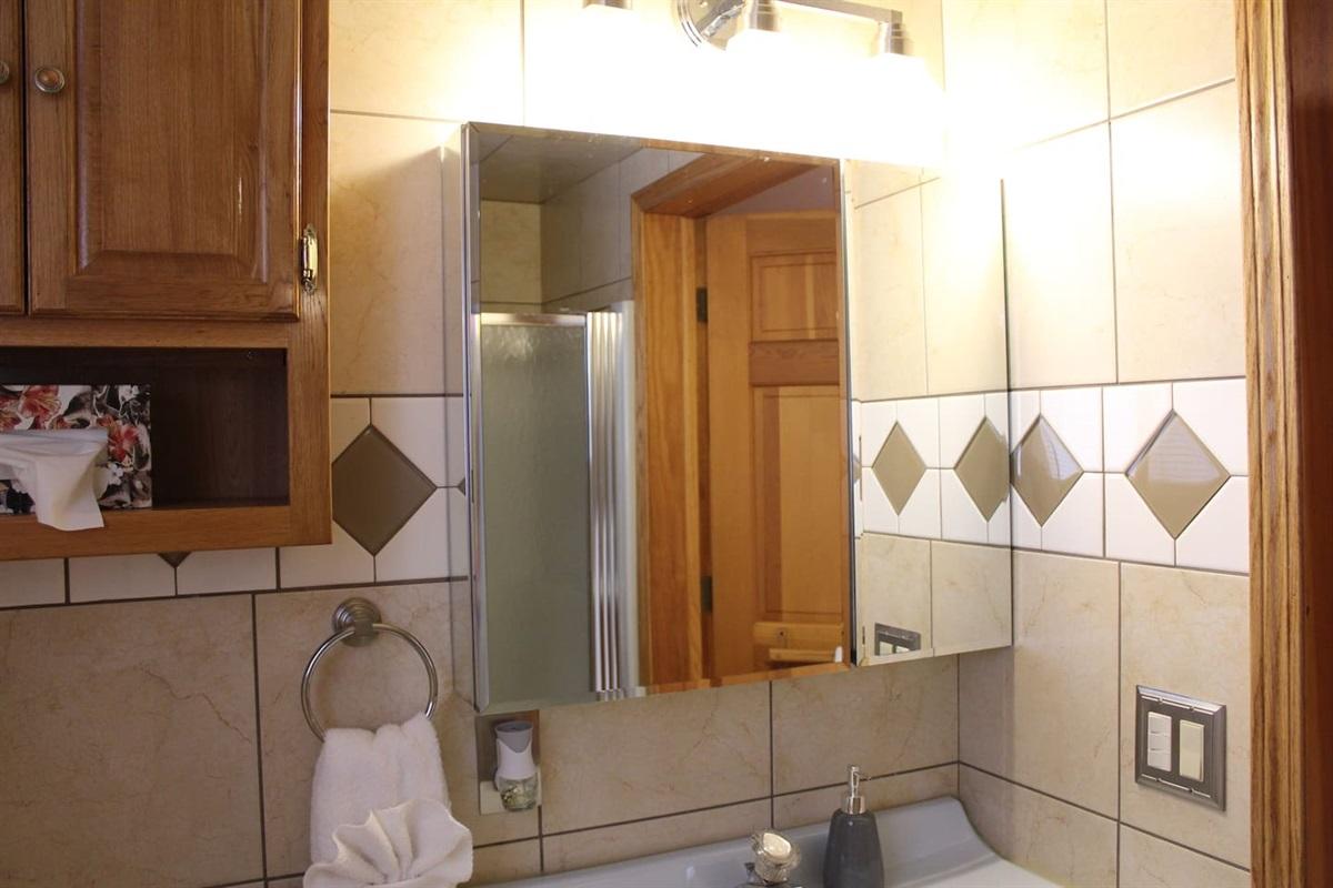 FUll Bathroom #2 - modern tiling throughout