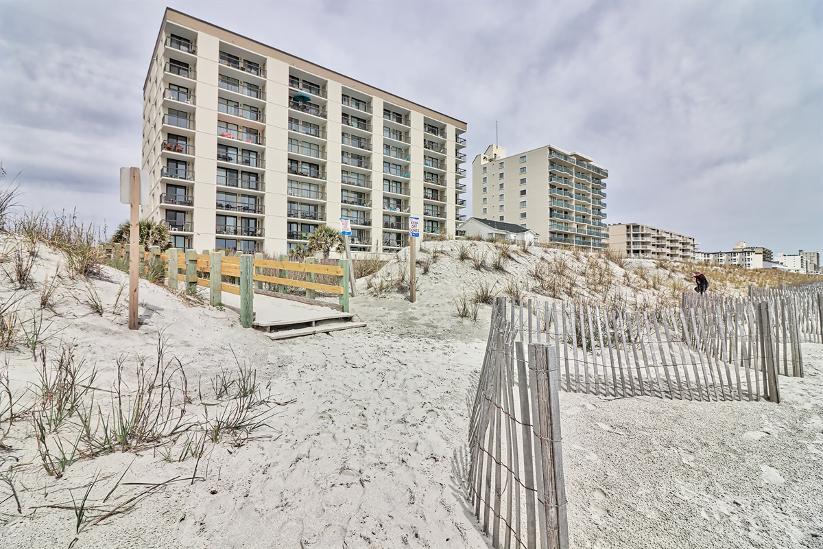 View of Waterpointe 1 from the beach