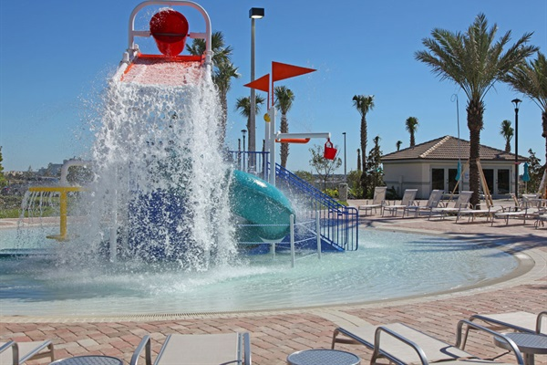 Kids Splash Pool-Air Conditioned Cabanas In Background Can Be Rented