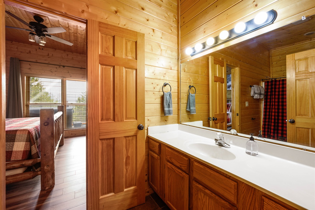 Bottom Floor Shared Bathroom between King and Queen bunk room