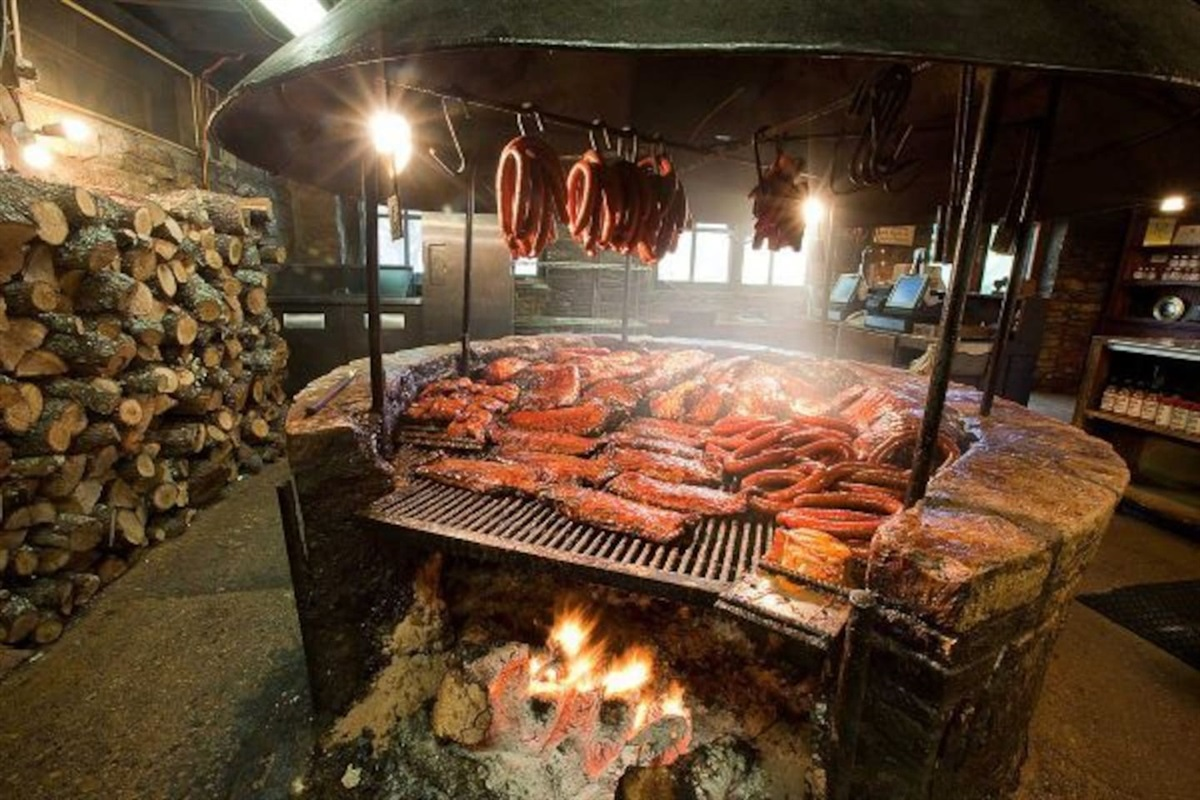 The original Salt Lick BBQ - a MUST! Be prepared to tailgate until a table is ready. Just 12 miles away!