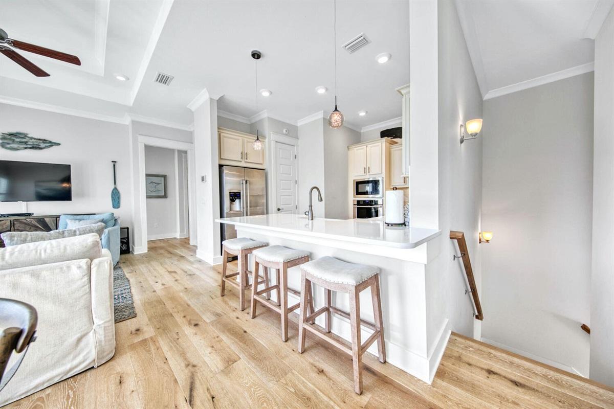 Kitchen / Stairway