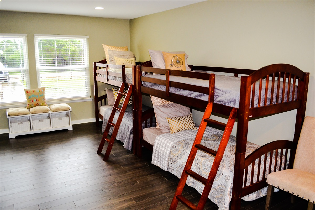 2 bunk beds in secondary living area.