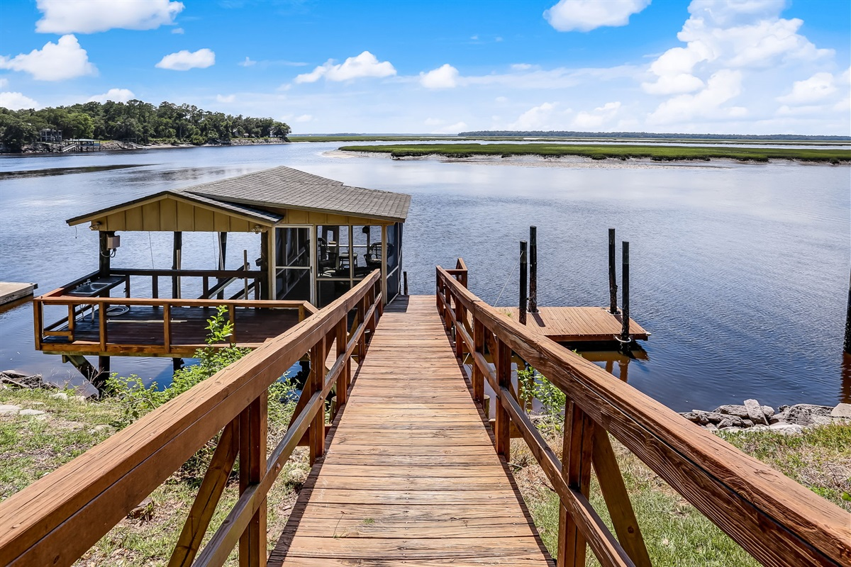 Private Boardwalk to Your Dock