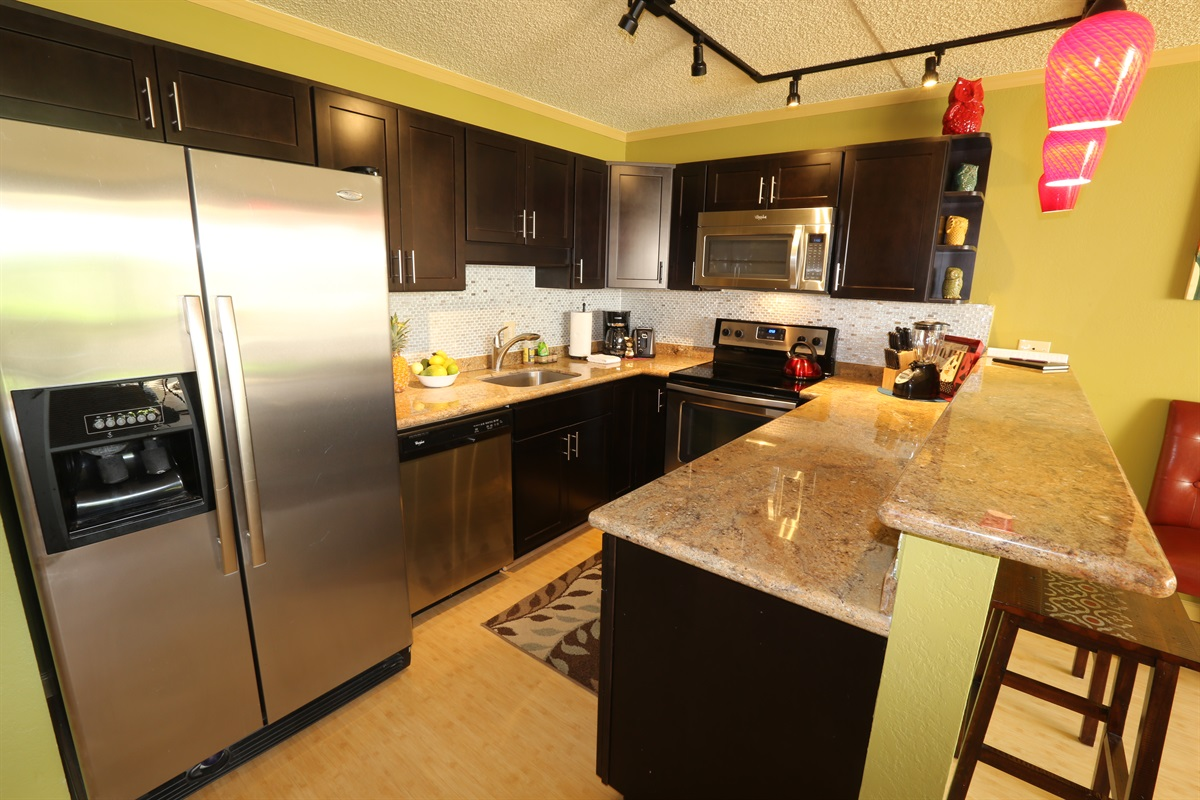 Beautifully remodeled kitchen that is fully stocked