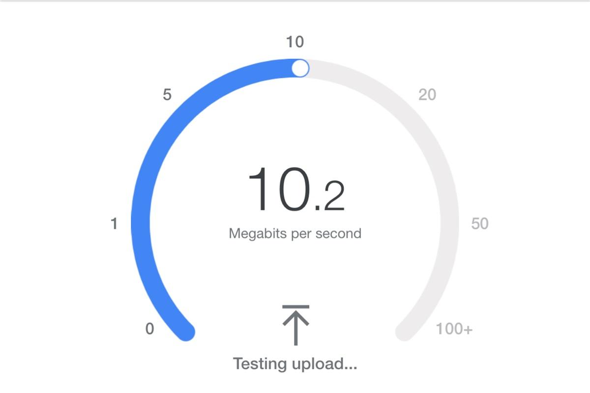 Internet test speed