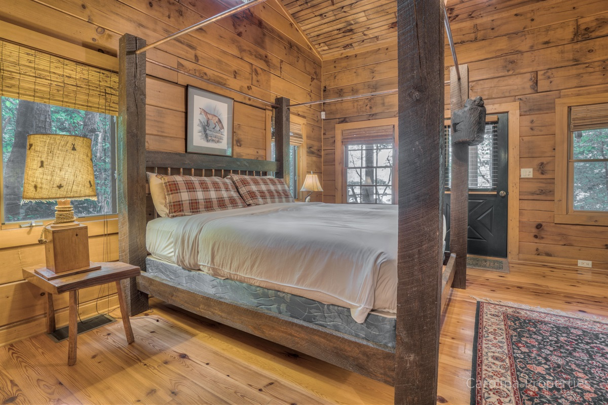 Additional view of bedroom 1 in the cabin with king size bed
