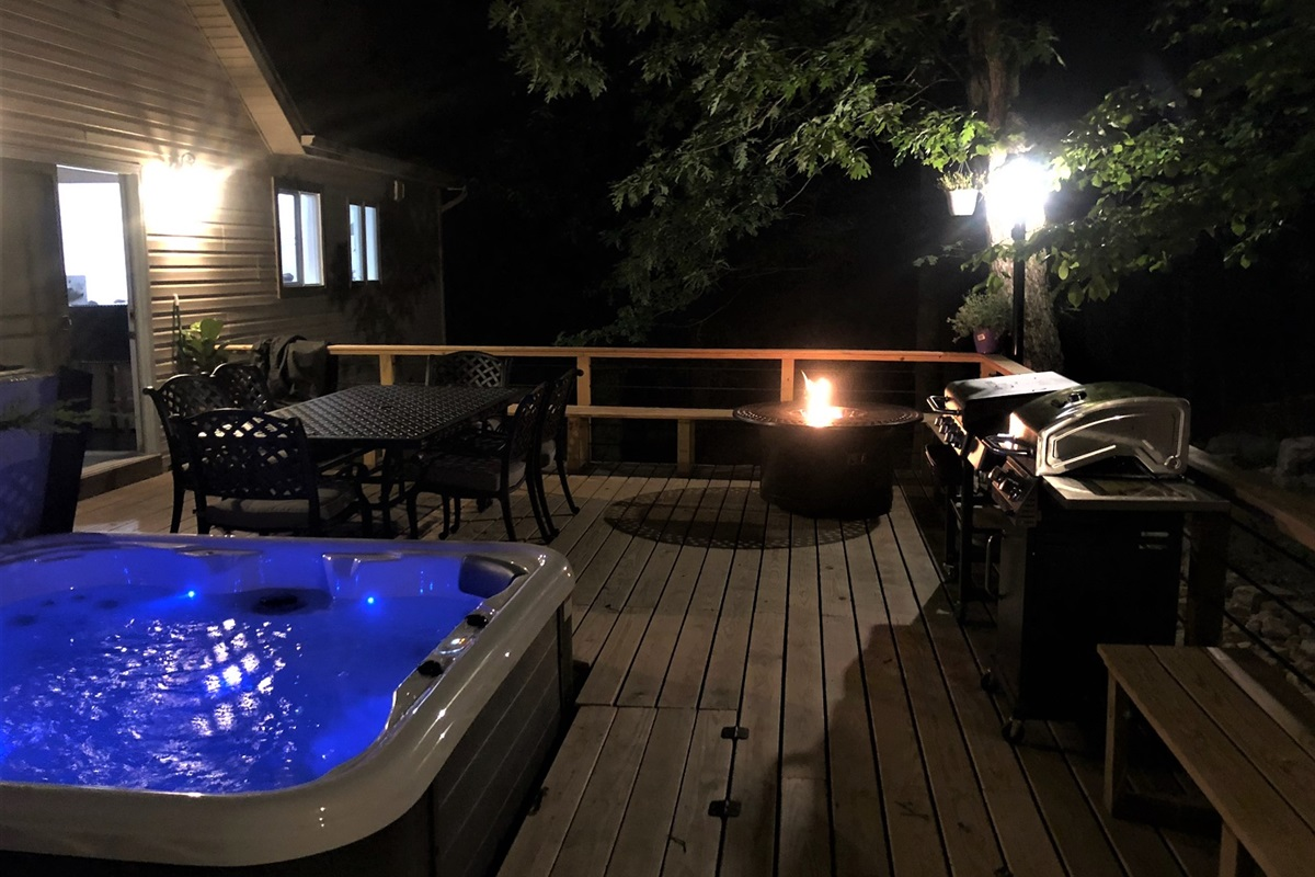 Deck view at night!