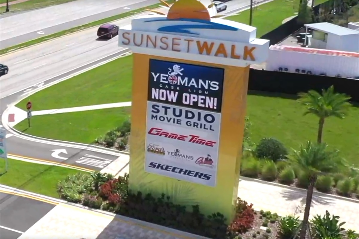 Sunset Walk the new eating and evening dining options