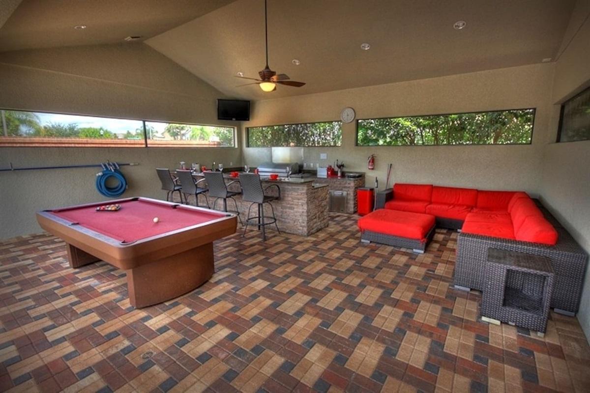 Summer Kitchen & Pool Table