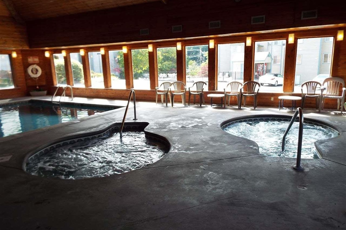 Two hot tubs