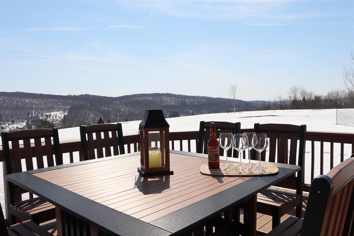 Enjoy your favorite drink on the large deck.