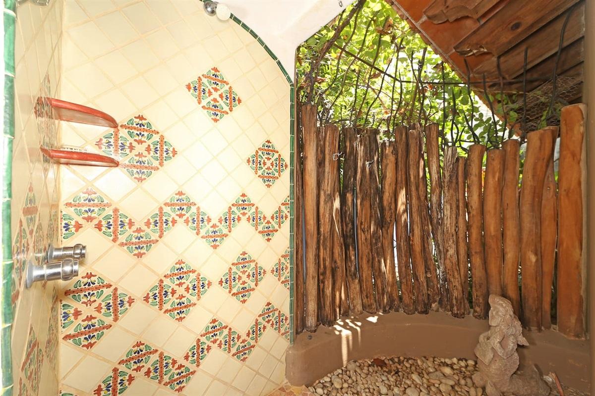 Semi outdoor shower