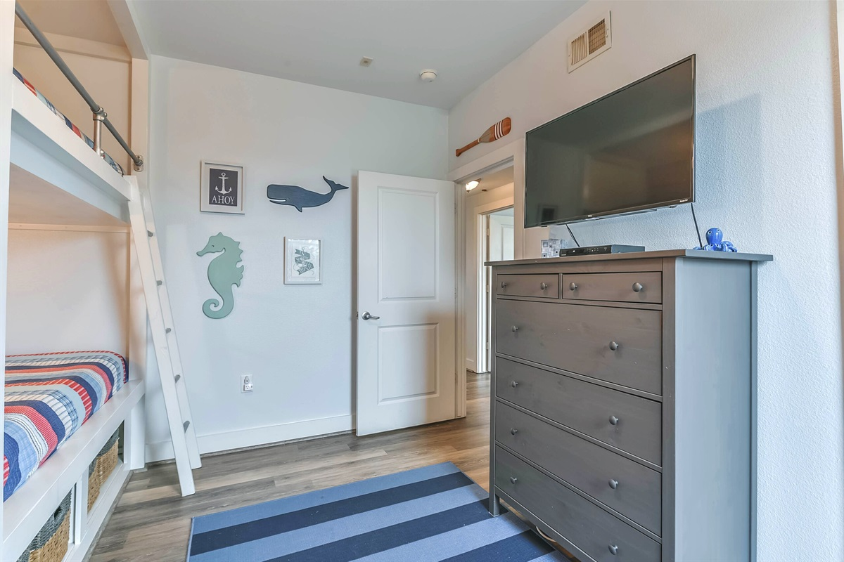 Television in bunk room