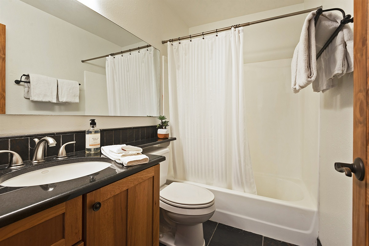 Bath three - shared by bedrooms 4 and 5