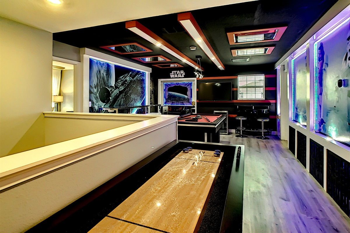 Adult Game Room-Shuffle Board And Pool